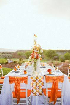 Gorgeous Tangerine Tango Wedding Inspiration
