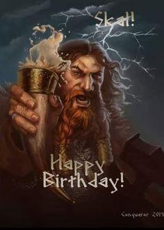 happy birthday card viking style