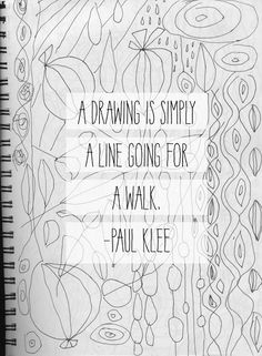 Paul Klee Quote by Lesley Grainger