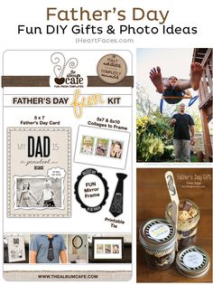 Father's Day DIY Gifts & Photo Ideas - Free Printables & Posing Ideas with Dad