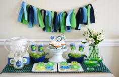 Preppy Frog Party - A Blissful Nest & Sweet Threads Clothing Co. #boyspartyideas #frogparty