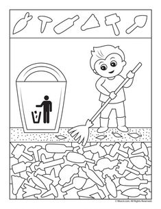 Earth Day Clean Up Versteckte Bilder Kindergarten Activities, Activities For Kids, Hidden Pictures Printables, Hidden Picture Puzzles, German Language Learning, Spanish Language, French Language, Sudoku, Poetry For Kids