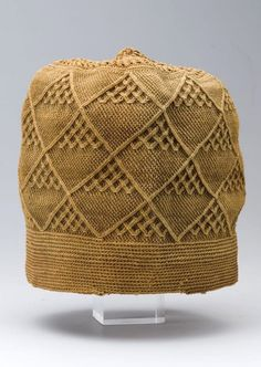 Africa   Hat from a member of the royal court of the Vili or Yombe people of Bas-Zaire   Knotted raffia   ca. 1850 - 1885