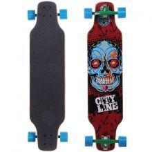 Skate Longboard City Line Mexican Skull Frente