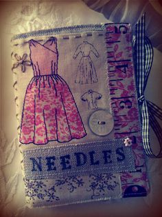 Vintage Needle case / book >> lots of embroidery ideas/patterns on this board...