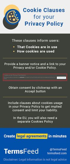 if you dont have or need a separate cookies policy you can include