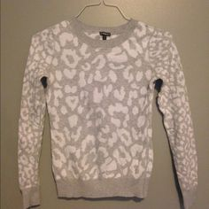 light cheetah print sweater thin grey and white sweater from express. Express Sweaters Crew & Scoop Necks