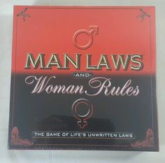 TDC Adult Board Game Man Laws And Woman Rules Game of  Life's Unwritten Laws