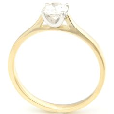 18ct Yellow and White Gold Solitaire Engagement Ring, Form Bespoke Jewellers, Leeds.  #bespoke #solitaire #diamond #engagement #ring #Yorkshire