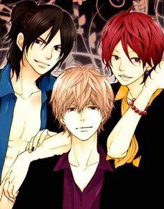 Takeru Hibiya, Sata Kyouya, and Nozomi Kamiya