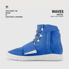 dc9d4dd0fa0f5 Kanye West x James Warner custom -Adidas Yeezy 750 boost Waves