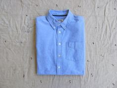 vintage c. 1990s blue oxford button down shirt unisex xs s