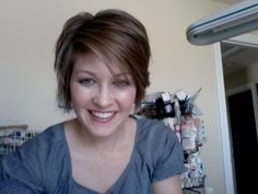 She has a lot of cute, short hair cuts.  I like most of them and they look good on her.