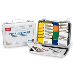 #firstaidresponder, #FirstAidKits*280-U Emergency First Aid Kit Pool and Lifeguard First Aid Kit*This 99-piece, 16-unit pool and lifeguard first aid kit has everything you'll need around the pool. Use the products in this kit for insect bites, minor cuts and eye irritations*Shop Now!