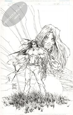 Witchblade #50 COVER by Michael Turner  Comic Art