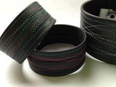... bicycle inner tube bracelet / cuff - upcycled vegan bike jewellery