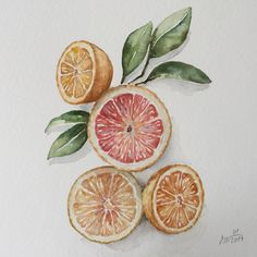 A personal favorite from my Etsy shop https://www.etsy.com/listing/490495226/watercolor-kitchen-decororange-lemon