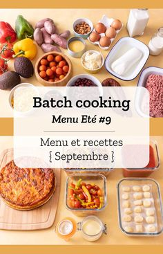 Batch cooking Summer # 9 - Batch cooking (menu and recipes) for the week of September 16 to 2019 - Healthy Travel Snacks, Healthy Meals To Cook, Healthy Cooking, Cooking Tips, Healthy Recipes, Easy Vegetarian Lunch, Vegetarian Cooking, Chicken Lunch Recipes, Batch Cooking