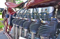 Henderson 6 cyl. motorcycle engine