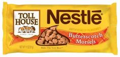Oatmeal Scotchies -- market pantry Target butterscotch morsels are peanut free! Toll House butterscotch morsels are NOT