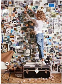 Check out Pottery Barn Teen's Dorm catalog for 2016 filled with some of our trunks! 38 Magical Interior Ideas That Will Inspire You – Check out Pottery Barn Teen's Dorm catalog for 2016 filled with some of our trunks! My Room, Dorm Room, Photowall Ideas, Polaroid Wall, Polaroids, Tumblr Rooms, Room Goals, Pottery Barn Teen, Aesthetic Rooms
