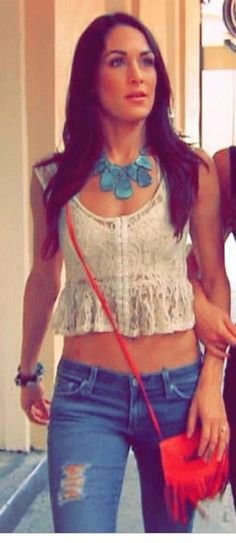 Love the necklace and her style!! Brie Bella