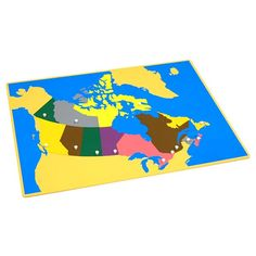 Puzzle Map of Canada | KidAdvance.com