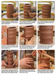Throw a bottomless cylinder and it can be easily transformed into different shapes -Nick Ramey