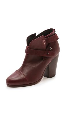 Rag & Bone Harrow Booties  LOVE THIS COLOR PORT