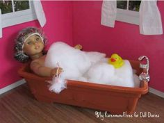 Bath Tub | 39 American Girl Doll DIYs That Won't Break The Bank