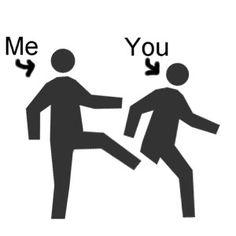 butt kicking