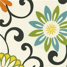 Lime Blossom Fabric by the Yard | Carousel Designs