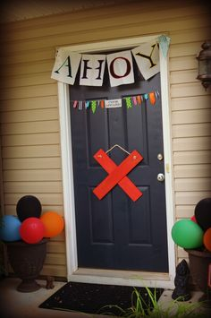 Ahoy! Entrance idea for a pirate party
