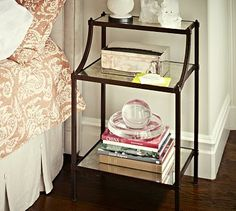 $499 i love this table! Etagere Bedside Table #potterybarn