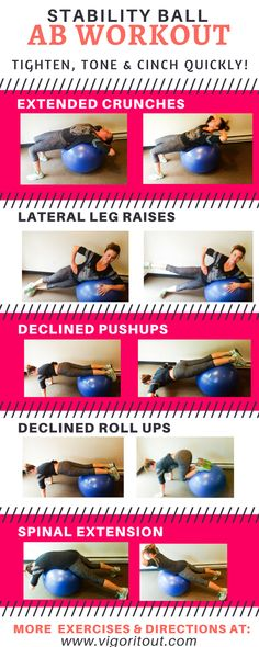 This stability ball ab workout is perfect for beginners for abs. Banish muffin tops and mummy tummy and get a flat belly after pregnancy at home or in gym. This exercise ball workout is your plan for losing weight with ab exercises as a postpartum workout https://www.musclesaurus.com/flat-stomach-exercises/