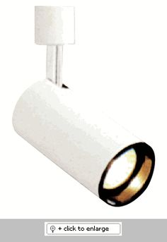 """Line Voltage PAR20 Flat Back Cylinder with Baffle    Use with single or two circuit track & accessories    90 degree vertical movement of 358 degree rotation   Metal Housing   UL or ETL Listed  Lamp: 120V 50W R20, PAR20    Dimension: L X W:5"""" x 3 1/2""""  Regular price: $18.99  Sale price: $10.99"""