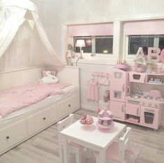 Girl bedroom remodel tips. It is preferable to use wallpaper for a Girl's bedroom with light-neutral Toddler Rooms, Toddler Bed, Toddler Girl Bedrooms, Girls Bedroom, Bedroom Decor, Bedroom Ideas, Ikea Girls Room, Girls Daybed, Dream Bedroom