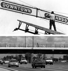 Orlando welcome signs, then and now