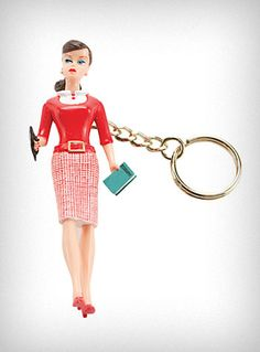Retro Barbie Doll Keychain $11 - MUST HAVE! As with most things in my life, I found on eBay - who says we're too old to play with dolls!