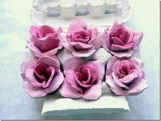 beautiful roses made from egg cartons!!!