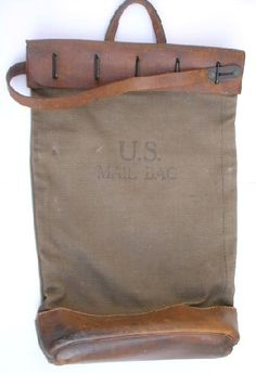 U.S. Mail Bag (nice style to be done all in leather)