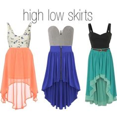 high low skirts- i looove the first one!!