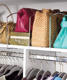 Make Use of the Upper Shelf | Ten easy ways to make more room for your wardrobe.