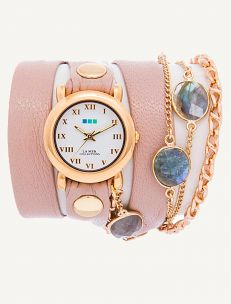 Labradorite Stones By The Yard Wrap Watch LA MER Collections $250.00