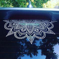 New Cars hacks 2019 Half Mandala Window Decals car decals wall decal vinyl decal mandala sticker… Hippie Auto, Hippie Car, Boho Hippie, Car Window Decals, Vinyl Wall Decals, Jeep Jk, Ford Gt, Vw Minibus, Vw Gol