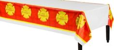 Firefighter Table Cover - Party City