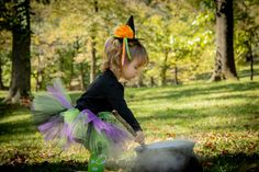 Baby Girl Witch Costume, Toddler Costume, Halloween Costume, Kids Costume, Girls Costume, Witch Tutu Costume Baby Witch Costume, Baby Girl Halloween Costumes, Toddler Costumes, Tutu Costumes, Trendy Halloween, Tutu Outfits, Little Girl Outfits, Hat, Black Tutu