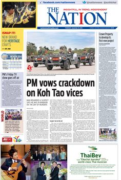 PM vows crackdown on Koh Tao vices -- The NATION Front Page, September 25, 2014 #TheNation