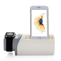 NEXGADGET 2-in-1 Charging Station Stand Dock Holder for Apple Watch and iPhone 7/7 Plus/6S/6S Plus/6/6 Plus/5/5C/5S -- Check out the image by visiting the link.