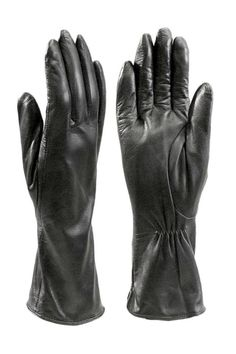 Sheepskin long leather gloves with cashmere lining. These long leather gloves offer that extra protection from wind and cold. The soft cashmere lining provides warmth and feels great against your skin. Size: S (6.5), M (7), L (7.5), XL (8).   Ladies Leather Gloves by BAS. Accessories - Winter Accessories New York